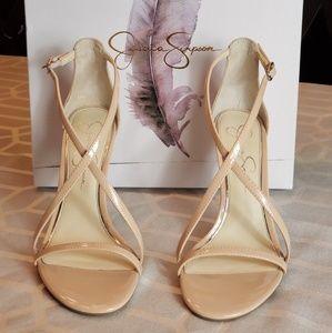 NEW Jessica Simpson Nude Aisha stiletto sandal